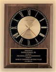 "American Walnut Quartz Clock 8"" x 10"""