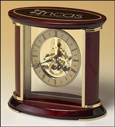 "Rosewood Skeleton Clock 7"" x 9"" x 3"""
