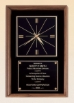 "Walnut Frame Clock with Large Engraving Plate 12"" x 18"""