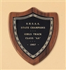 "Shield Plaque with Black Brass 7 "" x  8 """