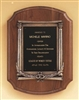 "American Walnut Plaque With 2"" Activity Insert 11 x 15"