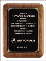 Solid American Walnut Plaque Elliptical Edges 7 x 9