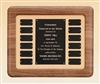 American Walnut Frame with Tan Velour Background 14 x 17