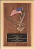 "Walnut Plaque with American Flag and Eagle Casting 14"" x 20"""