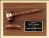 "American Walnut Frame Gavel Plaque 9"" x 12"""