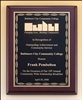"Rosewood Piano-Finish Plaques 8"" x 10"" 1/2"""