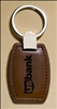 "Leather Keyring With Silver Hardware 1 3/8"" x 3 3/8"""