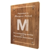 "9"" x 12"" Reclaimed Wood Floating Acrylic Plaque"