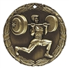 "2"" XR Medal, Weight Lifter"