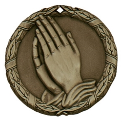 "2"" XR Medal, Praying Hands"