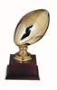 Gold Metal Football 14 inches