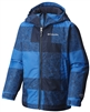 COLUMBIA BOY WRECKTANGLE INSULATED HOODED JACKET SUPER BLUE PLAID