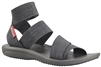 COLUMBIA WOMEN BARRACA STRAP SANDAL DARK GREY WILD SALMON