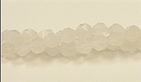 CB188-08mm WHITE AGATE FACETED (DC)