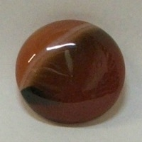 JO5-01  RED AGATE 25mm ROUND CABOCHON
