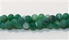 Q24-06mm GREEN AGATE MATTE FINISH