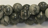 R01-12mm  BLACK PICASSO BEADS