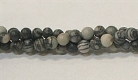 R01-04mm BLACK PICASSO BEADS