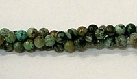 R04-04mm AFRICAN TURQUOISE BEADS