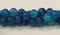 R32-08mm BLUE AGATE BEADS