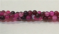 R33-04mm RED ROSE AGATE BEADS