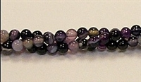 RB180-04mm PURPLE STRIPED AGATE