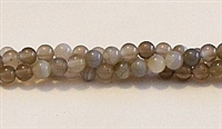 RB185-04mm GRAY STRIPED AGATE BEADS