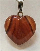 Y6-02 25mm RED AGATE HEART PENDANT
