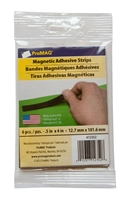 "Magnetic Strip w/ Adhesive 1/2"" X 4"" (12 packs of 6 Pcs.)"
