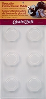 Octagon w/ Border Knob Molds Reusable (Qty 6 - 1/2 oz cavities)