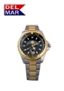 Men's Nautical Analog Tide Watch Two Tone Black Dial | DelMar Watches
