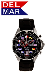 Men's 200M Swiss Exclusive Black Nautical Dial | Del Mar Analog Tide Watch