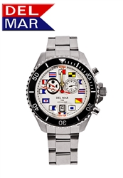 Men's 200M Swiss Exclusive White Nautical Dial | Del Mar Analog Tide Watch