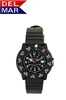 Del Mar Women's Dive 200 Black Dial PU Watch, 200 Meter Water Resistant