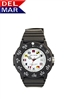 Del Mar Women's Dive White Dial Nautical Flag PU Watch, 200 Meter Water Resistant