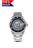 Del Mar Men's Navy Military Sport Dive Watch-Stainless Steel Sport Dive Watch