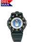 Del Mar Men's Air Force Military Sport Dive Watch-Black Case Sport Dive Watch