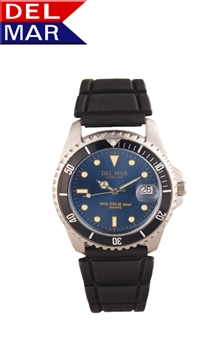 Del Mar Men's Sportstrap 200 Meter Water Resistant Watch Blue Face - Buy at Del Mar Watches Online