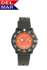 Del Mar Women's  Dive 200 Orange Dial PU Watch, 200 Meter Water Resistant