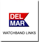 Wristwatch LInks, Two-tone, Stainless Steel Bands | Sports & Dive Gear | Del Mar Watches