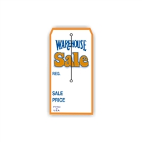 """Warehouse Sale"", 2.375 x 4.75 in., Slit Hang Tag, 500 per shrink pack"
