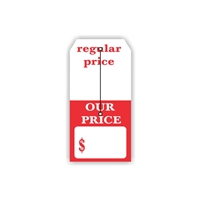 """Regular Price Our Price"", 2.375 x 4.75 in., Slit Hang Tag, 500 per shrink pack"