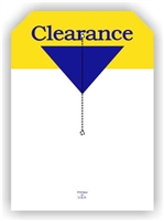 """Clearance"", 5 x 7in., Slit Hang Tag, 250 per shrink pack"