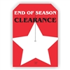 """End of Season Clearance"", 5 x 7in., Slit Hang Tag, 250 per shrink pack"