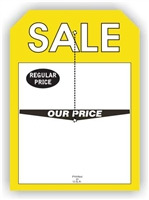 """Sale Regular Price Our Price"", 5 x 7in., Slit Hang Tag, 250 per shrink pack"