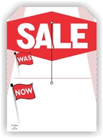 """Sale Was Now"", 5 x 7in., Slit Hang Tag, 250 per shrink pack"