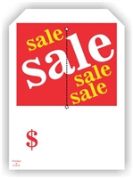 """sale Sale sale sale"", 5 x 7in., Slit Hang Tag, 250 per shrink pack"