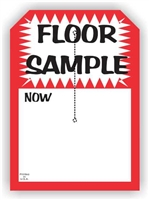 """Floor Sample"", 5 x 7in., Slit Hang Tag, 250 per shrink pack"