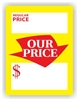 """Regular Price Our Price"", 3.75 x 5in., Square Cut, 250 per shrink pack"