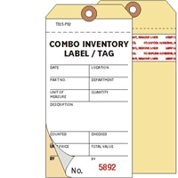 <!010>Inventory, 2-Ply Carbonless, Manila, w/Adhesive Strip, Box of 500, Plain, Sequence per factory